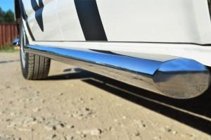 VOLKSWAGEN Multivan/Caravelle   2010- Пороги труба d63 (вариант 1) (правый) VTKT-0013981